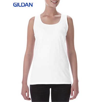 Gildan Softstyle Ladies Racerback Tank White
